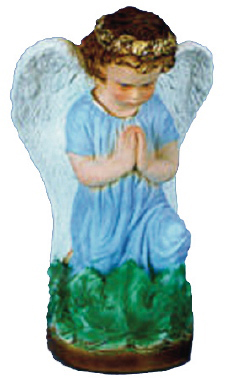 Guardian Angel Plaster Statue PAINTED Blue
