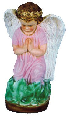 Guardian Angel Plaster Statue PAINTED Pink