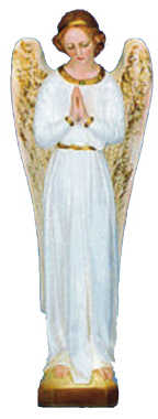 Angel Praying Plaster Statue PAINTED