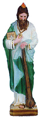 Saint Jude Plaster Statue PAINTED