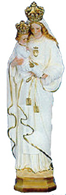 Our Lady of Mount Carmel Plaster Statue PAINTED White