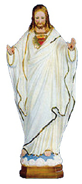 Pleading Christ Plaster Statue PAINTED White