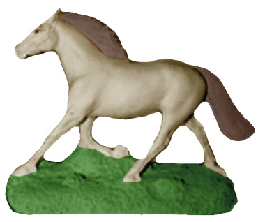 Horse Running Plaster Statue
