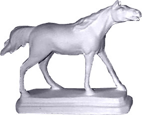 Horse on Base Plaster Statue
