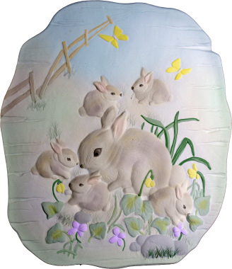 Woodland Animal Rabbit Plaster Plaque