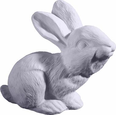 Bunny Rabbit Plaster Statue up