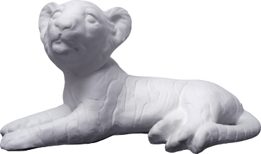 Tiger Cub Plaster Statue