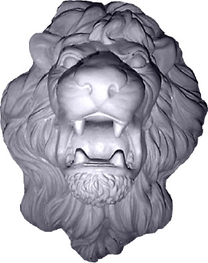 Roaring Lion Face Plaster Plaque Large