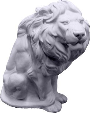 Lion Sitting Plaster Statue