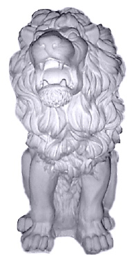 Roaring Lion Plaster Statue
