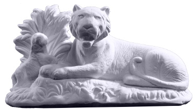 Tiger Family Plaster Statue Small