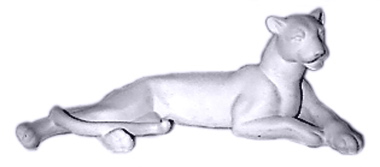 Cougar Lying Down Plaster Statue