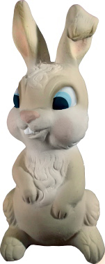 Bunny Seated Plaster Statue