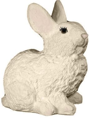 Bunny Rabbit Sitting Plaster Statue