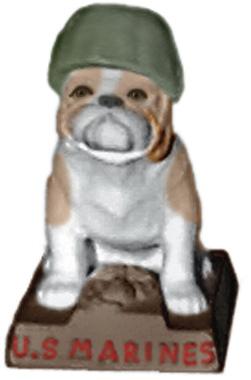 Marine Bulldog Plaster Statue