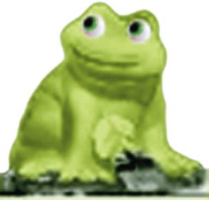 Frog Plaster Statue