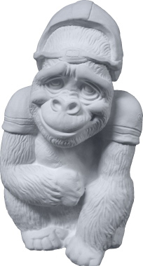 Gorilla Football Player Unpainted Plaster Piggy Bank