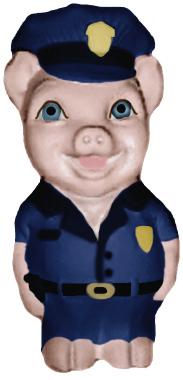 Policeman Pig Unpainted Plaster Piggy Bank