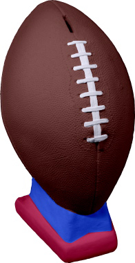 Football Unpainted Plaster Piggy Bank