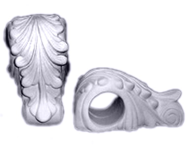 Smooth Leaf Drapery Plaster Bracket Corbel
