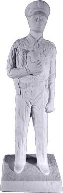 Policeman Plaster Statue