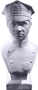 Policeman Bust Plaster Statue