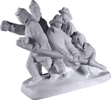 Bravest Firemen Plaster Statue