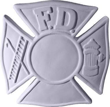 Fireman Shield Plaster Plaque a