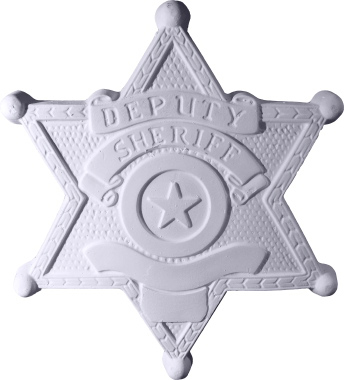 Deputy Sheriff Badge Plaster Plaque