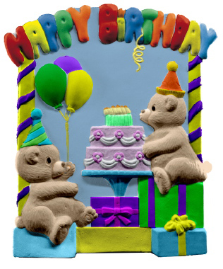 Happy Birthday Plaster Plaque