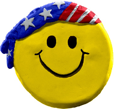 Happy Face USA Plaster Plaque