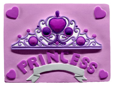 Princess Tiara Plaster Plaque
