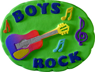 Boys Rock Plaster Plaque