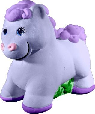 Baby Pony Plaster Statue