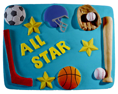 All Star Sports Gear Plaster Plaque
