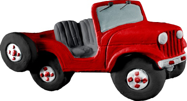 Jeep Convertible Plaster Plaque