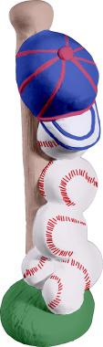 Baseball Gear Stack Plaster Statue