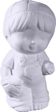 Baseball Kids Boy Pitcher Plaster Statue