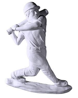 Baseball Batter Plaster Plaque
