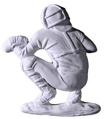 Baseball Catcher Plaster Plaque