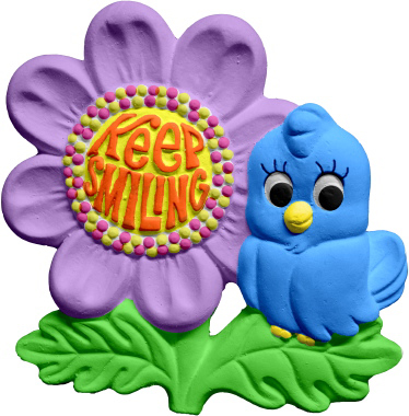 Keep Smiling Flower Plaster Plaque