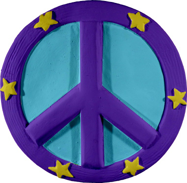 Peace Symbol Plaster Plaque