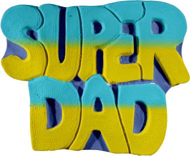 Super Dad Plaster Plaque
