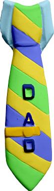 Dads Tie Plaster Plaque