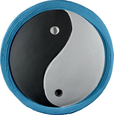 Yin Yang Plaster Plaque