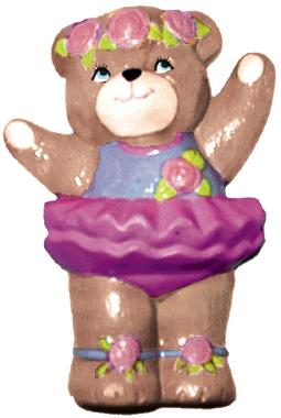Ballerina Bear Plaster Plaque
