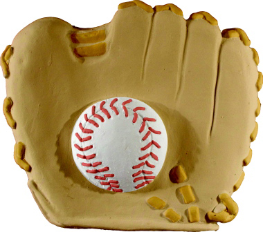 Baseball Glove with Ball Plaster Plaque