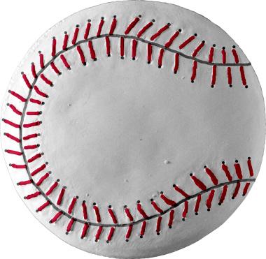 Baseball Plaster Plaque