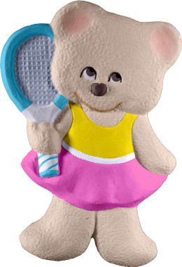Tennis Bear Girl Plaster Plaque