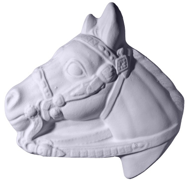 Horse with Rein Plaster Plaque